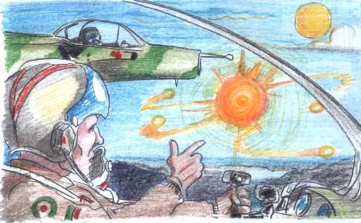 Aviadores portugueses acompanhados por UFO declararam não ter explicação para o avistamento (Click para ampliar)