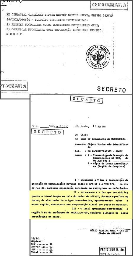 Secreto: instru��es para comunica��o de eventos OVNI ao NUCOMDABRA (Click para ampliar)