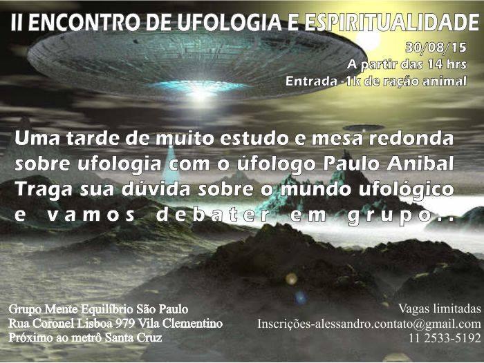 São Paulo recebe II Encontro de Ufologia e Espiritualidade
