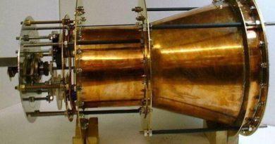 EmDrive foi uma das primeiras promessas de motor contínuo sem propelentes para alcançar a velocidade da luz. Ainda não foi provado, mas também não foi refutado (Imagem: SPR Ltd www.emdrive.com)