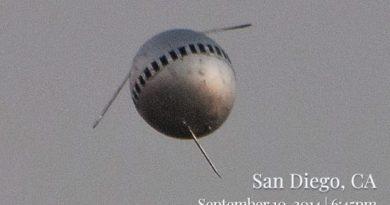Uma esfera estranha sobrevoou a cidade de San Diego em 2014. E foi filmada em alta resolução por um funcionário do Departamento de Defesa.