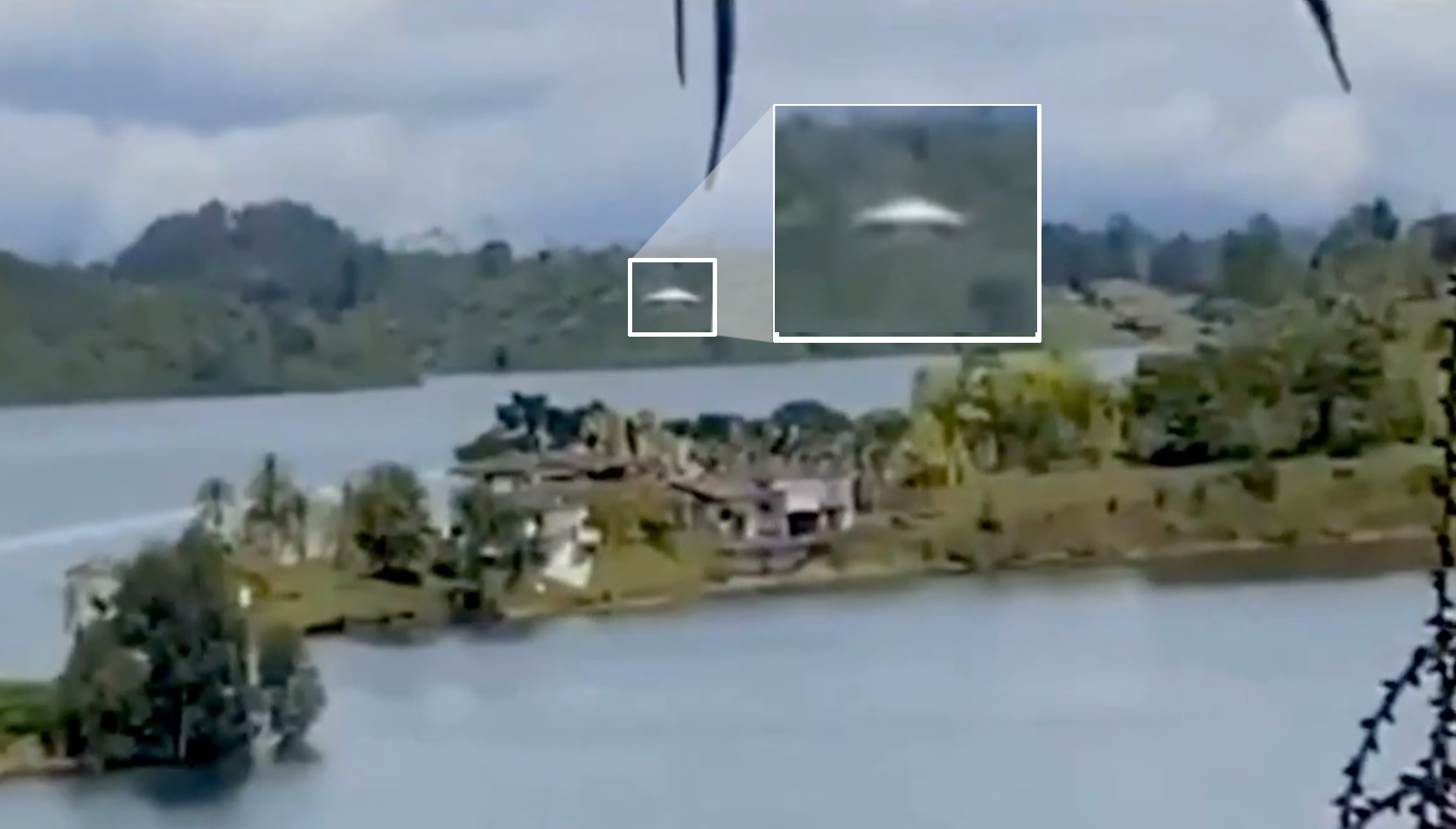 Testemunha filma disco voador em Cali, na Colômbia