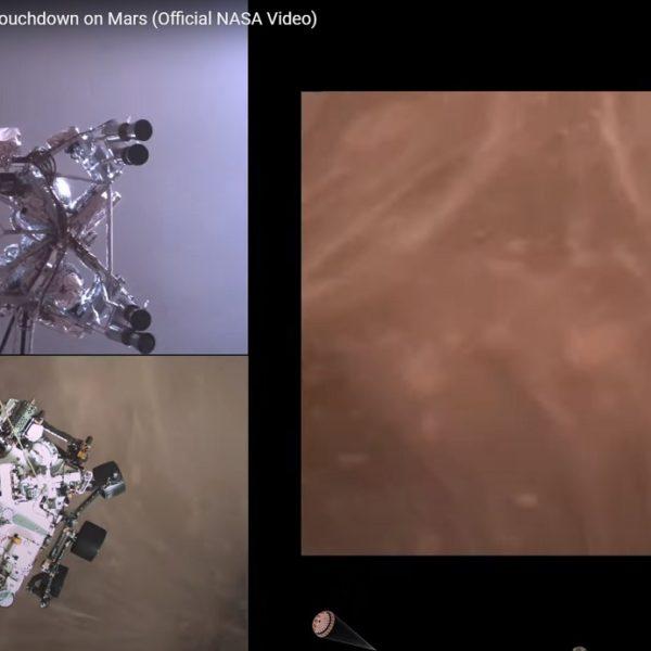 NASA libera vídeo incrível da manobra de pouso do Perseverance em Marte