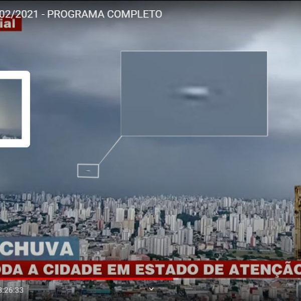 Brasil Urgente transmite ao vivo passagem de óvni Tic Tac sobre São Paulo (vídeo)
