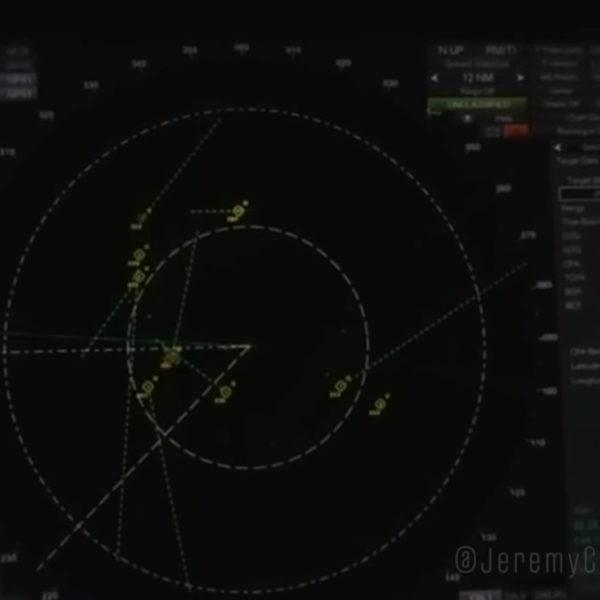 Vídeo mostra óvnis próximos de navio de guerra dos EUA rastreados no radar
